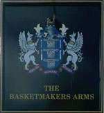 The pub sign. The Basketmakers Arms, Brighton, East Sussex