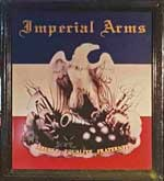 The pub sign. Imperial Arms, Chislehurst, Greater London