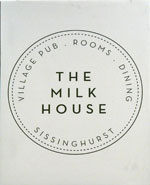 The pub sign. The Milk House, Sissinghurst, Kent