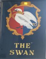 The pub sign. The Swan, Bloomsbury, Central London