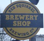 The pub sign. Mad Squirrel Brewery Shop, Chesham, Buckinghamshire