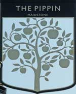 The pub sign. The Pippin, Maidstone, Kent