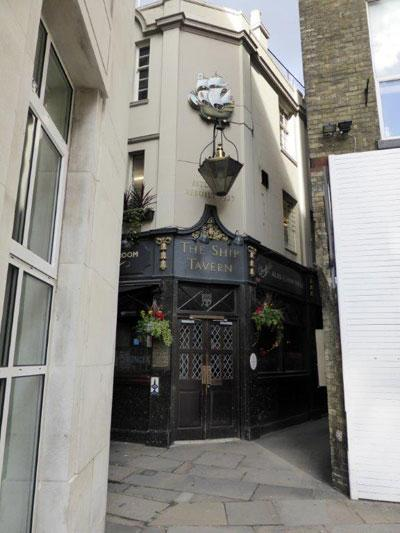 Picture 1. The Ship Tavern, Holborn, Central London