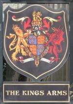 The pub sign. The Kings Arms, City, Central London