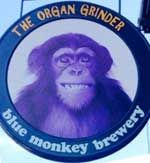 The pub sign. The Organ Grinder, Newark, Nottinghamshire