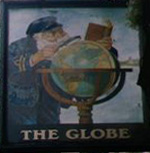 The pub sign. The Globe, Liverpool, Merseyside