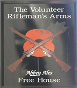 The pub sign. The Volunteer Rifleman's Arms, Bath, Somerset