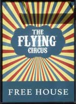 The pub sign. The Flying Circus, Newark, Nottinghamshire
