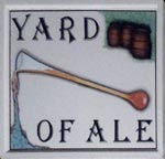 The pub sign. Yard of Ale, St Peter's, Kent