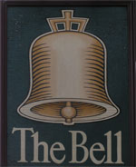 The pub sign. The Bell, Bath, Somerset