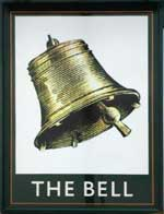 The pub sign. Bell, Sandy, Bedfordshire