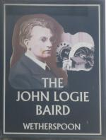 The pub sign. The John Logie Baird, Hastings, East Sussex
