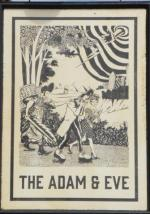 The pub sign. The Adam & Eve, Homerton, Greater London