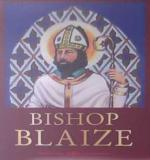 The pub sign. Bishop Blaize Hotel, Richmond, North Yorkshire
