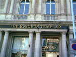 The pub sign. The Knights Templar, Chancery Lane, Central London