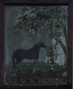 The pub sign. Black Horse, West Tytherley, Hampshire