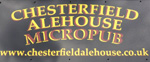 The pub sign. Chesterfield Alehouse, Chesterfield, Derbyshire