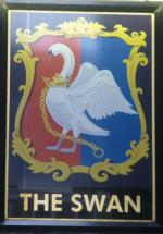 The pub sign. The Swan Tavern, City, Central London