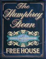 The pub sign. The Humphrey Bean, Tonbridge, Kent