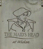 The pub sign. Maids Head, Wicken, Cambridgeshire