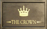 The pub sign. The Crown, Great Ellingham, Norfolk