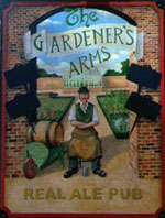 The pub sign. The Gardener's Arms, Lewes, East Sussex