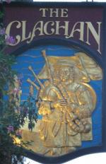 The pub sign. The Clachan, Soho, Central London