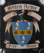 The pub sign. Selden Arms, Worthing, West Sussex