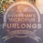 The pub sign. Furlongs Ale House, Faversham, Kent
