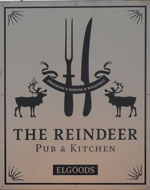 The pub sign. The Reindeer, Norwich, Norfolk