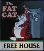 The pub sign. The Fat Cat, Norwich, Norfolk