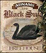 The pub sign. Black Swan, Homersfield, Suffolk