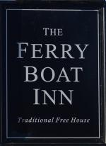 The pub sign. Ferry Boat Inn, Tottenham, Greater London