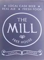 The pub sign. The Mill, Cambridge, Cambridgeshire