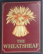 The pub sign. The Wheatsheaf, Fitzrovia, Central London