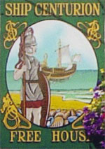 The pub sign. Ship Centurion, Whitstable, Kent