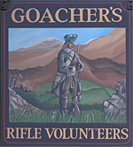 The pub sign. Rifle Volunteers, Maidstone, Kent