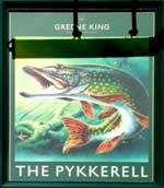 The pub sign. The Pykkerell, Ixworth, Suffolk