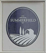The pub sign. The Summerfield, Lee, Greater London