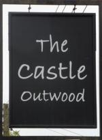 The pub sign. Castle, Outwood, Surrey