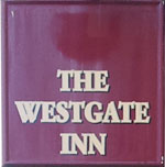 The pub sign. The Westgate Inn, Winchester, Hampshire