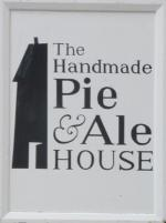 The pub sign. The Handmade Pie & Ale House, Weymouth, Dorset