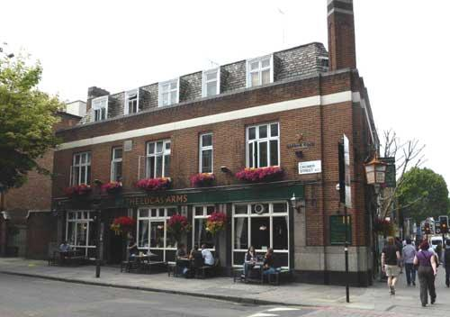 Picture 1. The Lucas Arms, King's Cross / St Pancras, Central London