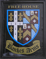 The pub sign. Bankes Arms, Studland, Dorset