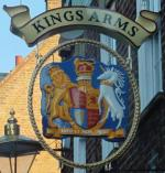 The pub sign. Kings Arms, Greenwich, Greater London