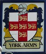 The pub sign. The York Arms, Ramsgate, Kent