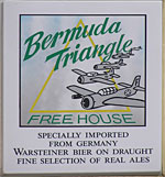 The pub sign. Bermuda Triangle, Poole, Dorset