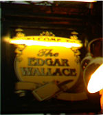 The pub sign. The Edgar Wallace, Temple, Central London