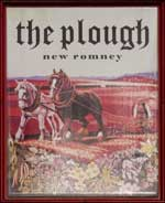 The pub sign. The Plough, New Romney, Kent