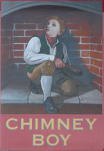 The pub sign. The Limes (formerly Chimney Boy), Faversham, Kent